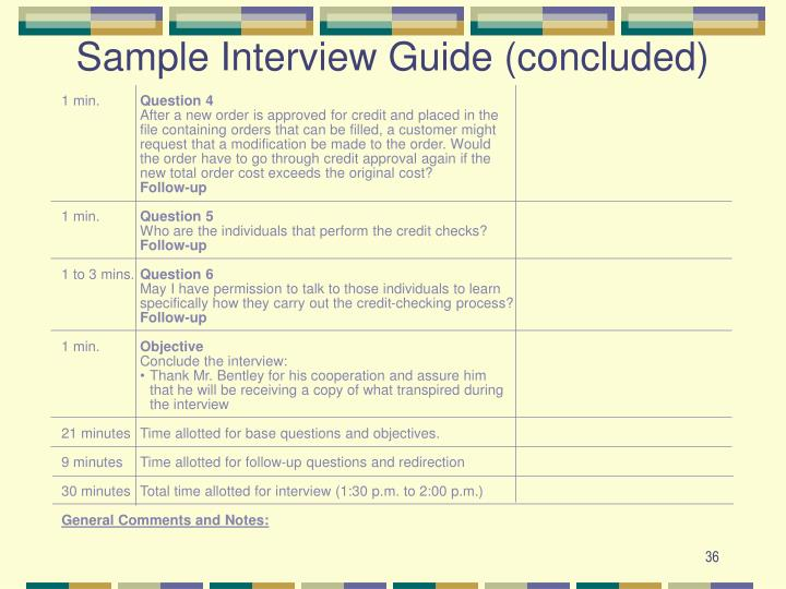 Sample Interview Guide (concluded)