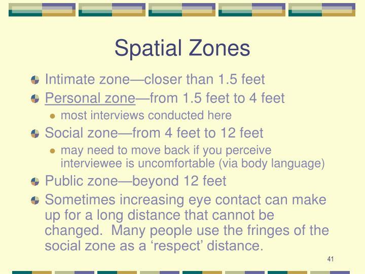 Spatial Zones