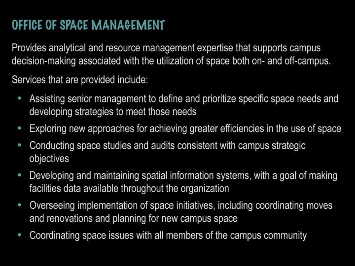 Office of space management