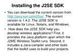 installing the j2se sdk
