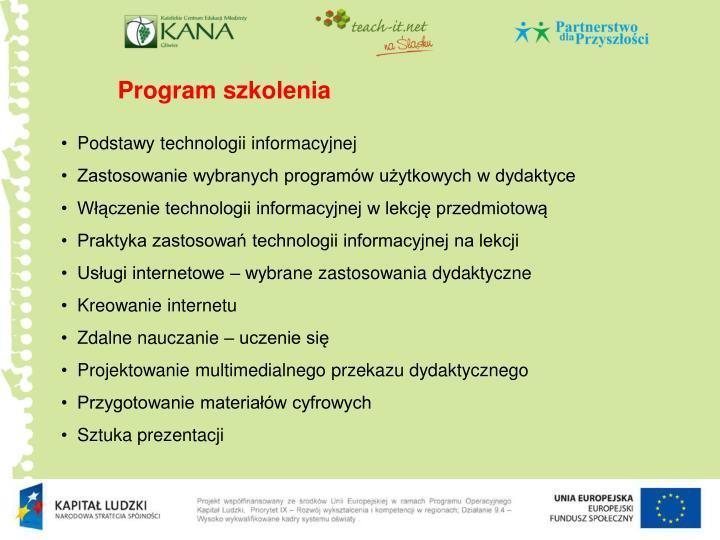 Program szkolenia