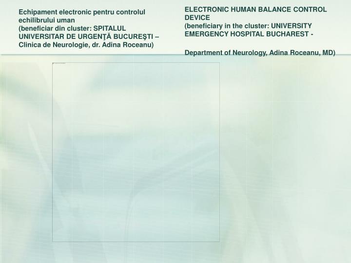 Echipament electronic pentru controlul echilibrului uman