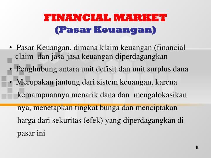 FINANCIAL MARKET