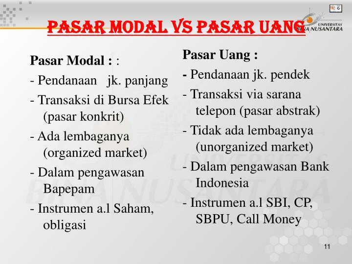 Pasar Modal :