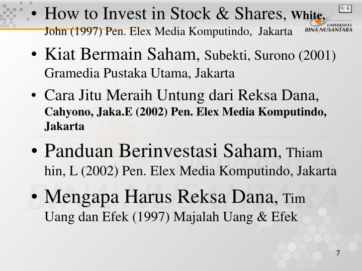 How to Invest in Stock & Shares