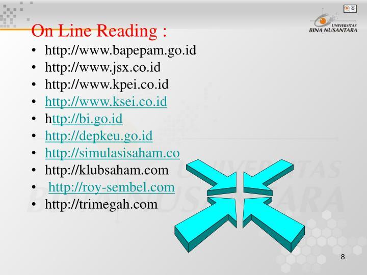 On Line Reading :