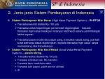 2 jenis jenis sistem pembayaran di indonesia
