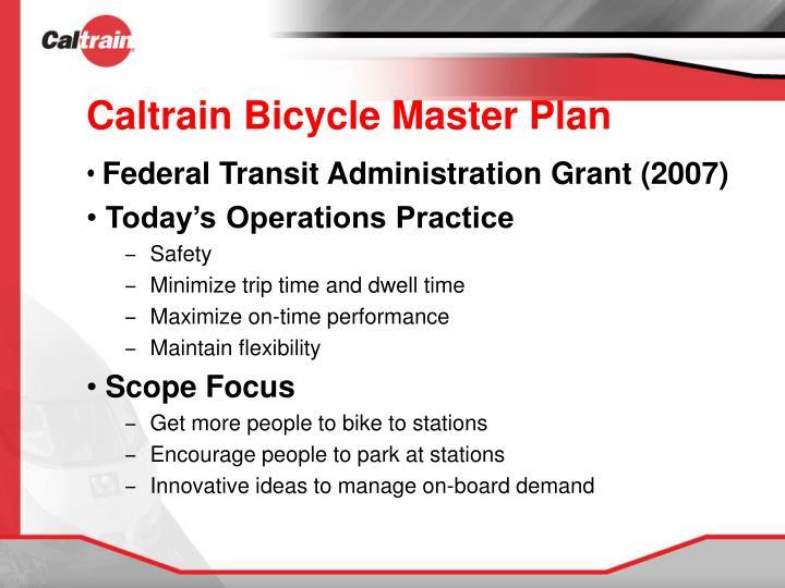 Caltrain bicycle master plan