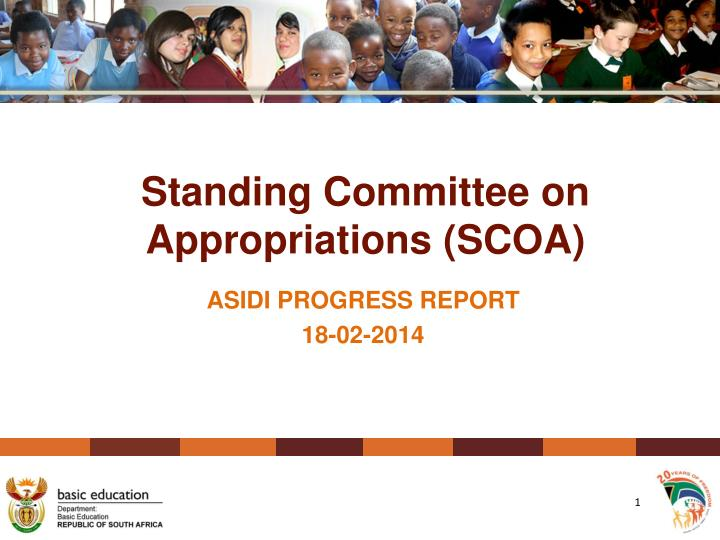 Standing committee on appropriations scoa