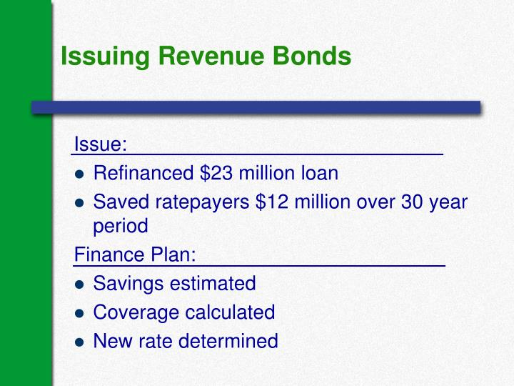 Issuing Revenue Bonds