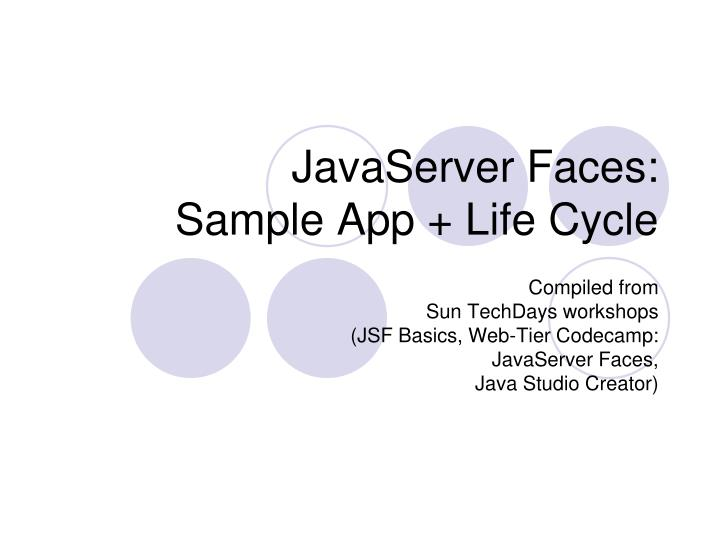 javaserver faces sample app life cycle
