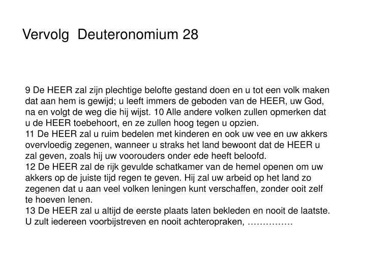 Vervolg  Deuteronomium 28