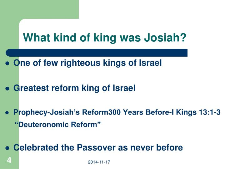 What kind of king was Josiah?