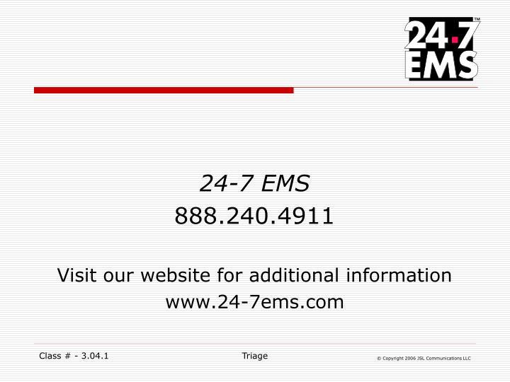 24-7 EMS