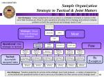 sample organization strategic to tactical joint matters