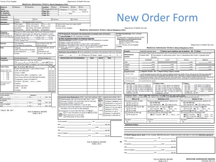 New Order Form