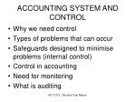 accounting system and control1