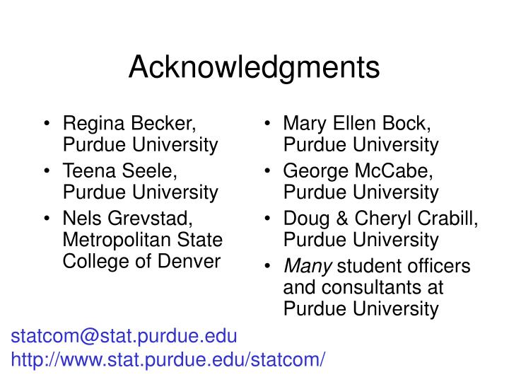 Regina Becker, Purdue University
