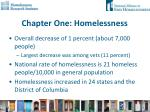 chapter one homelessness