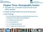 chapter three demographic factors