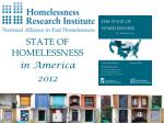 state of homelessness in america 2012