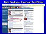 data products american factfinder