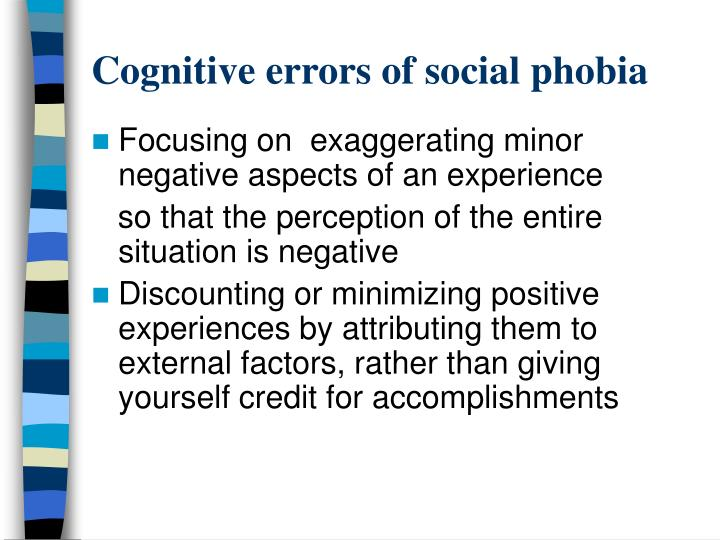 Cognitive errors of social phobia