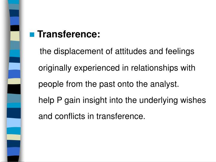 Transference: