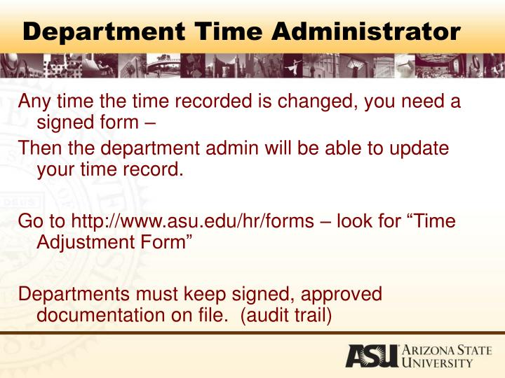 Department Time Administrator