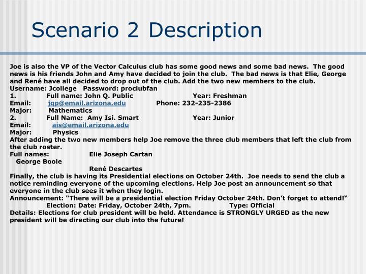 Scenario 2 Description