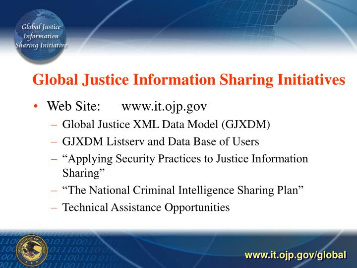 Global justice information sharing initiatives