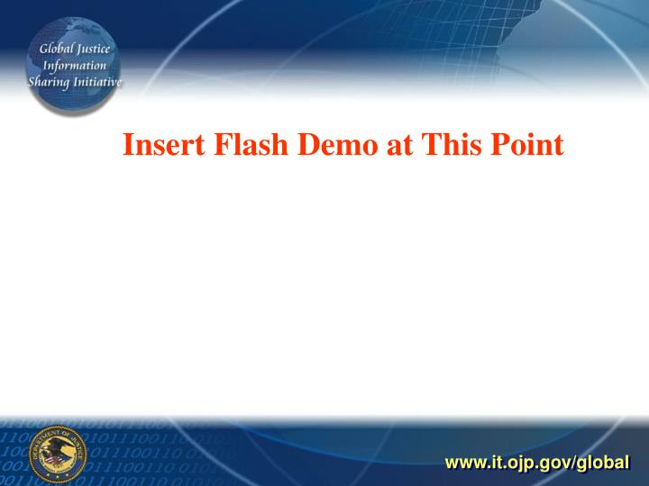 Insert Flash Demo at This Point