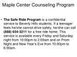 maple center counseling program