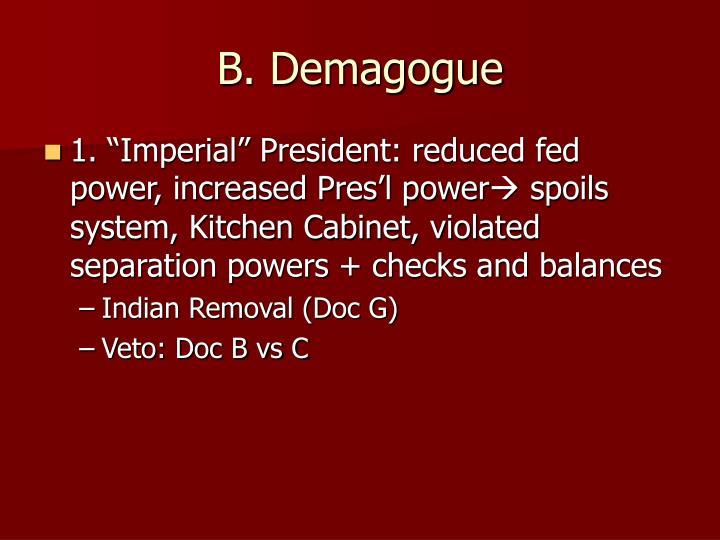 B. Demagogue