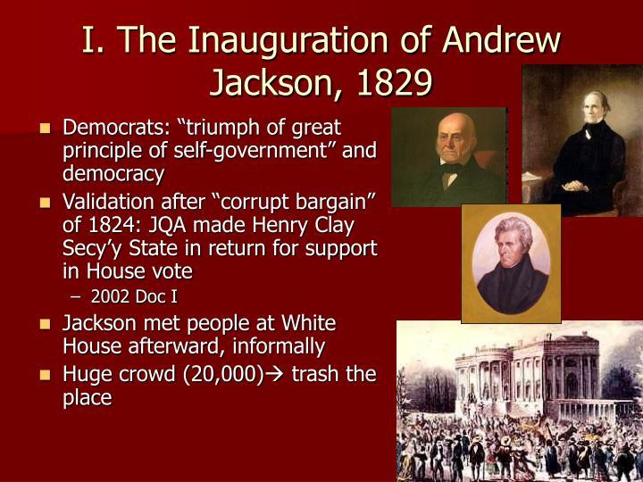 I the inauguration of andrew jackson 1829
