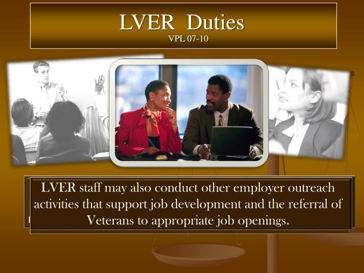 LVER  Duties