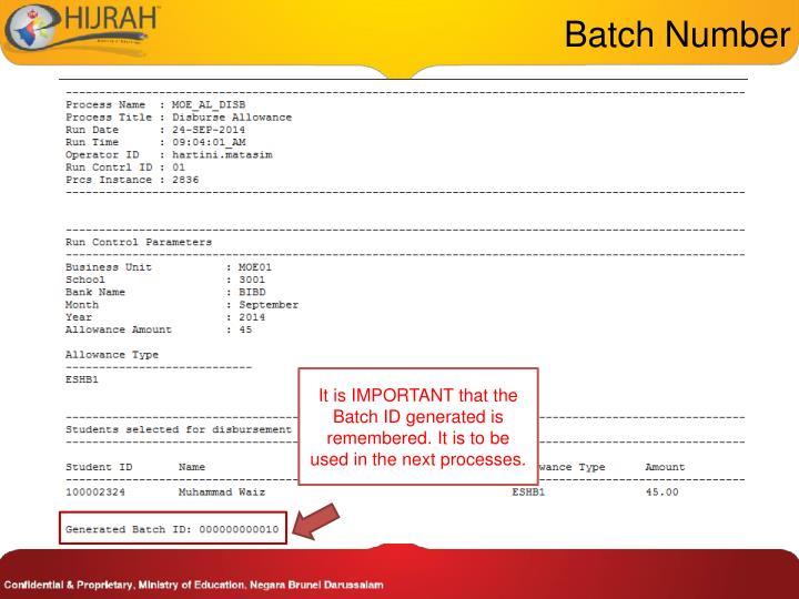Batch Number