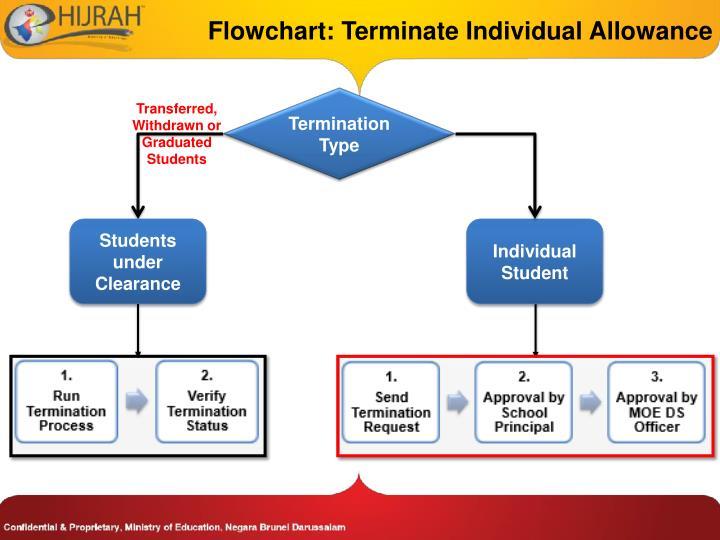 Flowchart: Terminate Individual Allowance