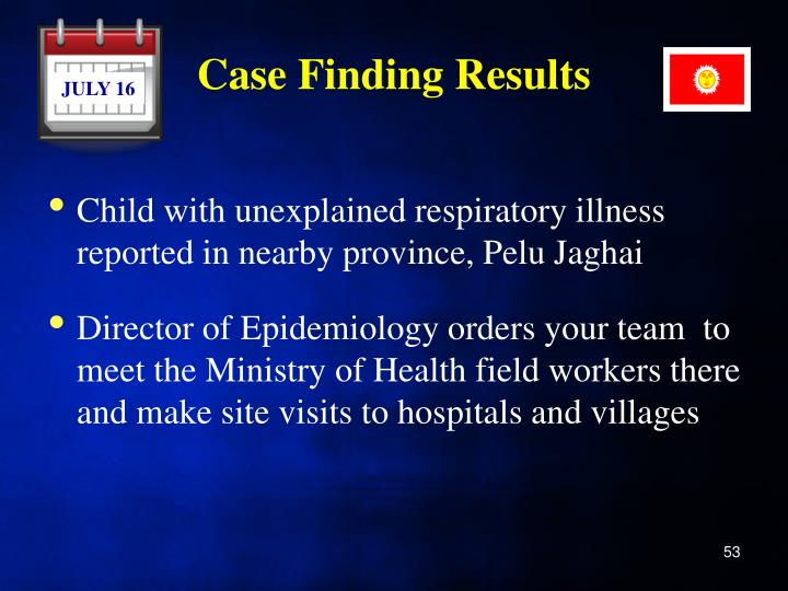 Case Finding Results