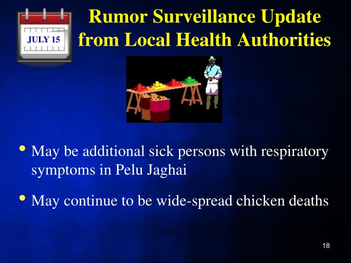 Rumor Surveillance Update from Local Health Authorities