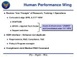 human performance wing