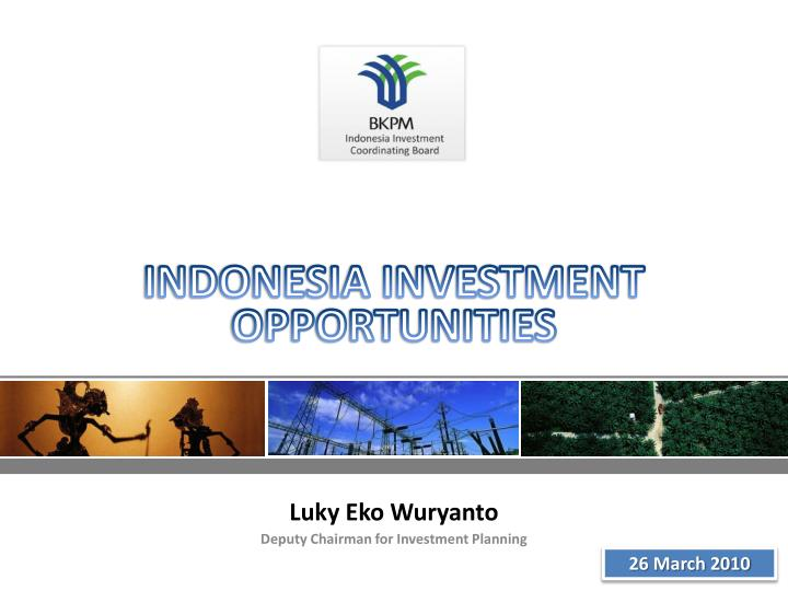 Indonesia investment opportunities