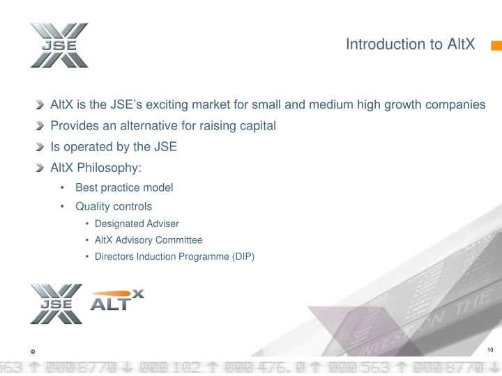 Introduction to AltX