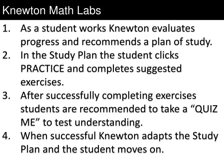 Knewton Math Labs