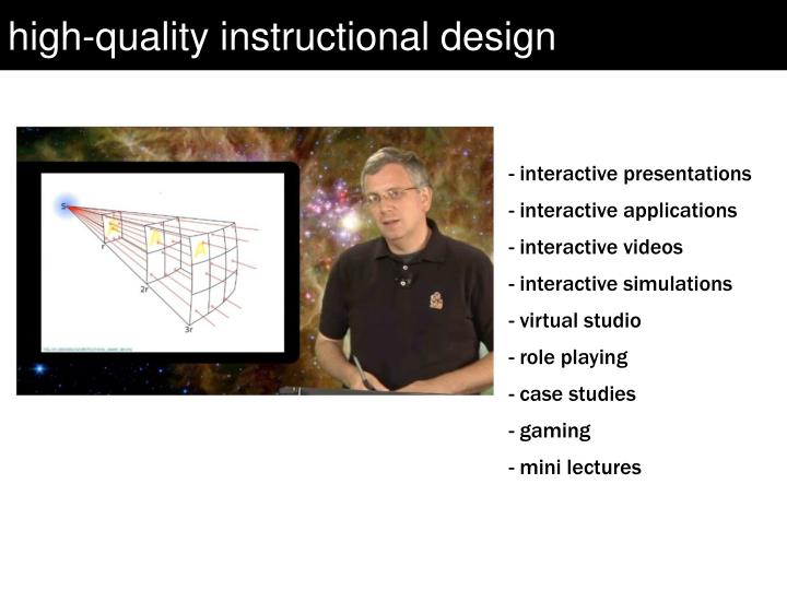 high-quality instructional design