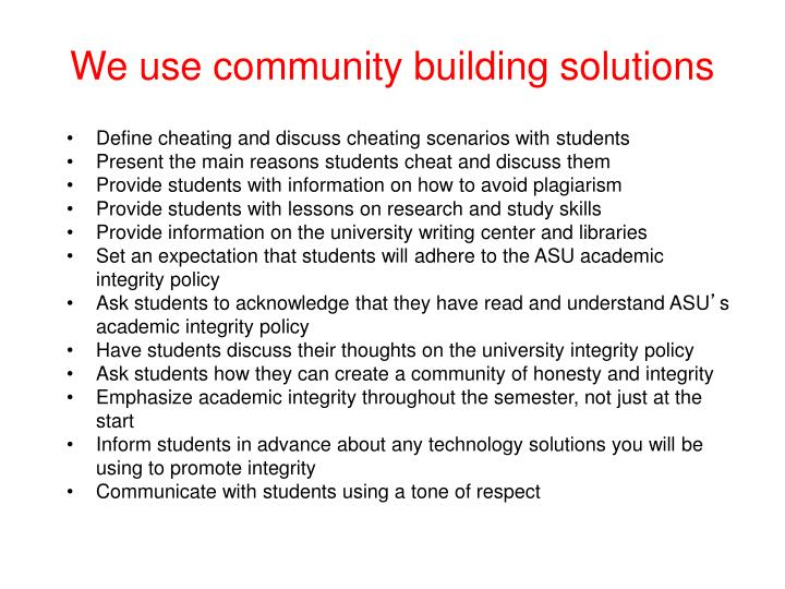 We use community building solutions