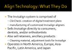 align technology what they do