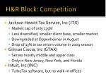 h r block competition