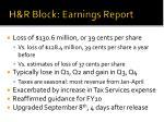 h r block earnings report