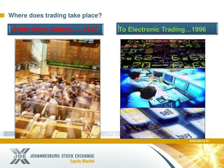 Where does trading take place